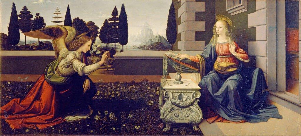 A-Anunciação- Leonardo da Vinci