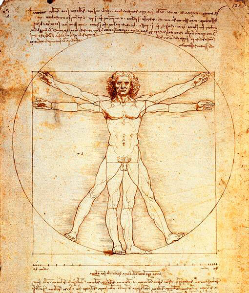 O-Homem-Vitruviano- Leonardo da Vinci